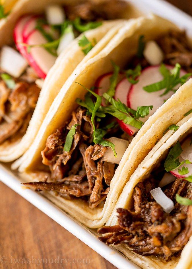 slow cooker barbacoa beef tacos