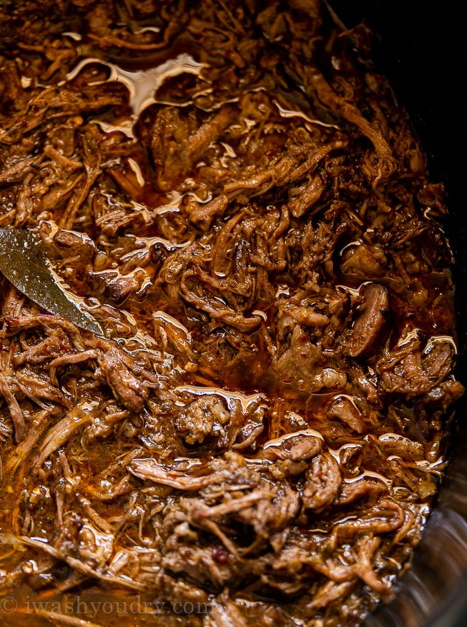 barbacoa beef in slow cooker with sauce