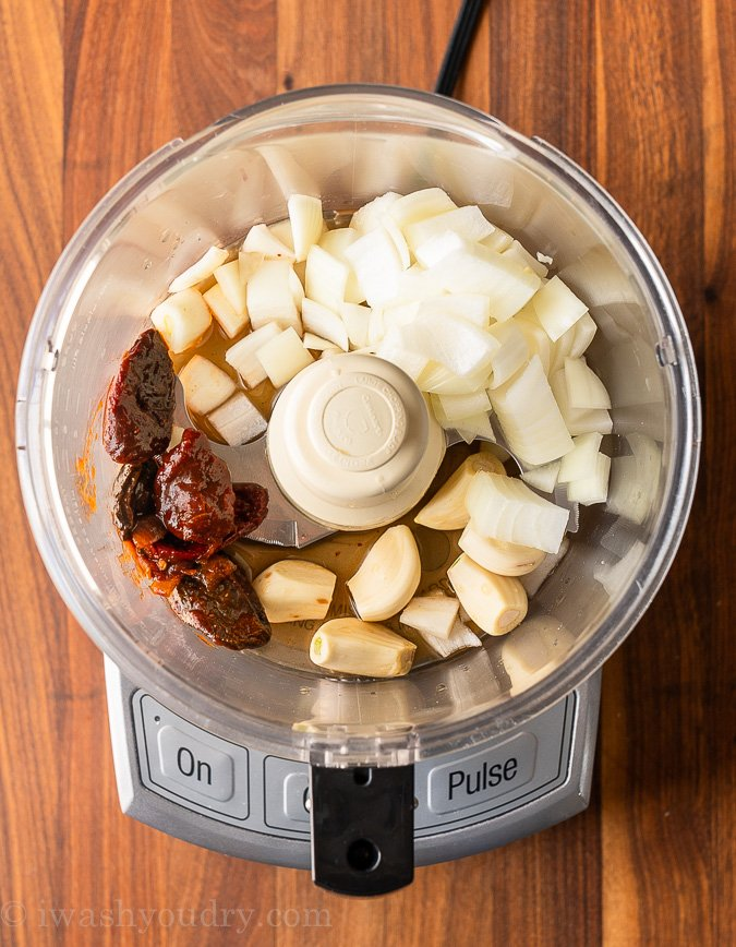 ingredients for barbacoa sauce in food processor